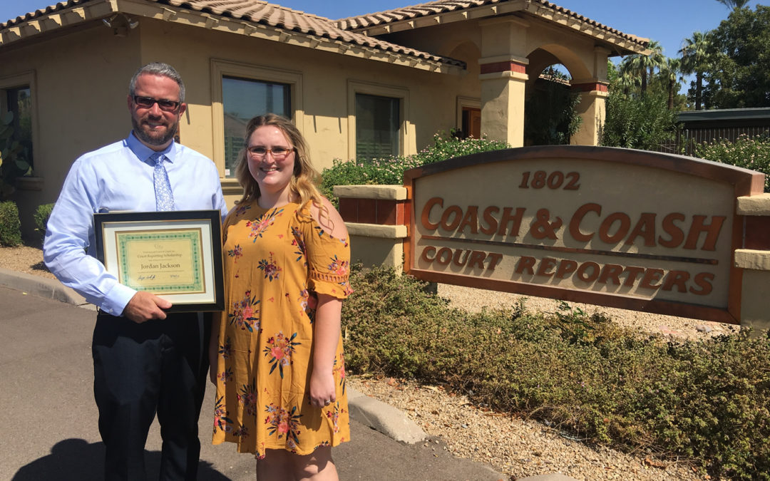 Coash and Coash Announces the Recipient of First Annual Court Reporting Scholarship